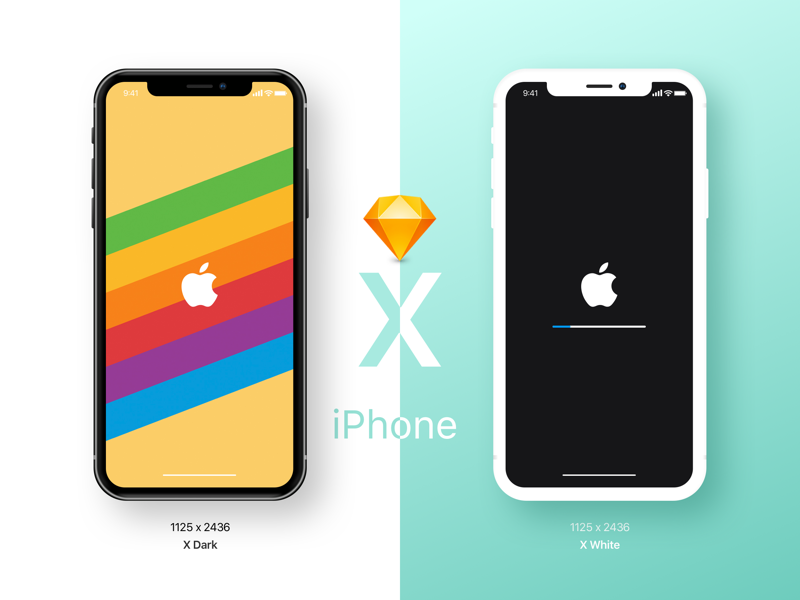 IPhone X Mockup Sketch Freebie