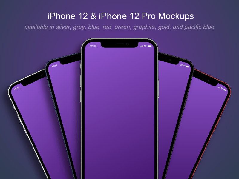iPhone 12 and iPhone 12 Pro Mockups