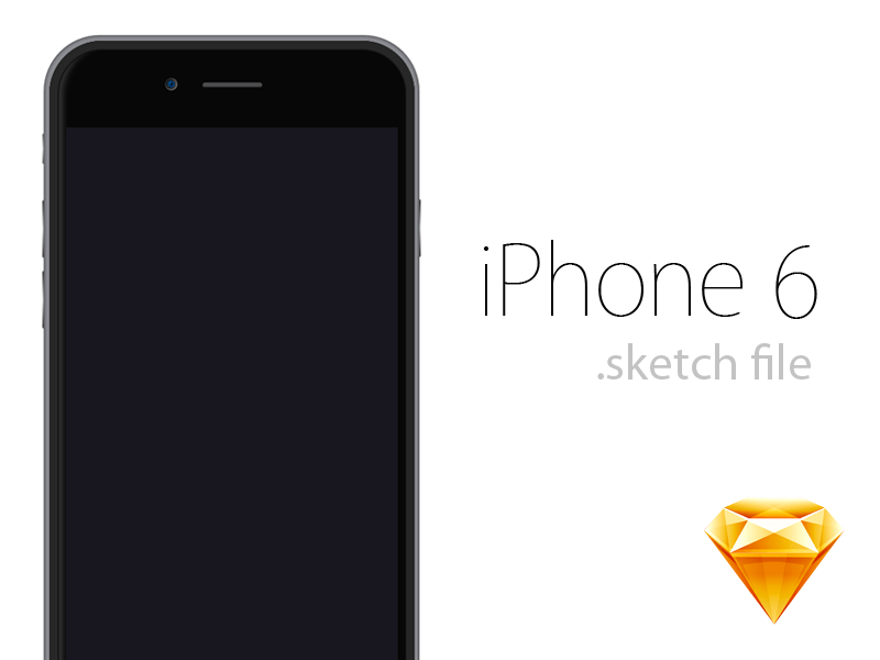 Apple iPhone 6 Sketch freebie - Download free resource for