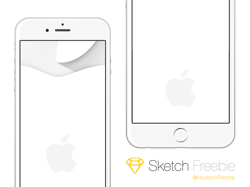 Apple IPhone 6 And 6 Plus Wireframe Sketch Freebie - Download Free Resource For Sketch - Sketch ...
