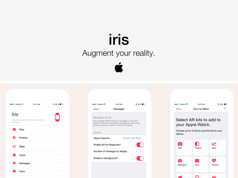 iris - Augmented Reality Product for Apple