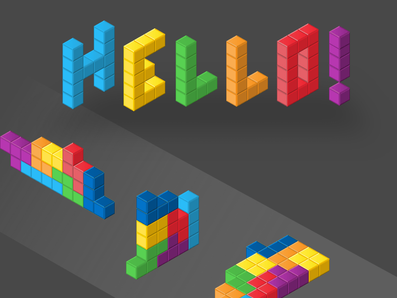 Isometric Building Blocks