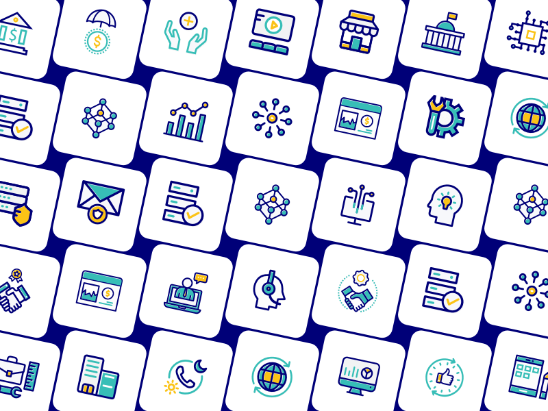 40 IT Services Icons