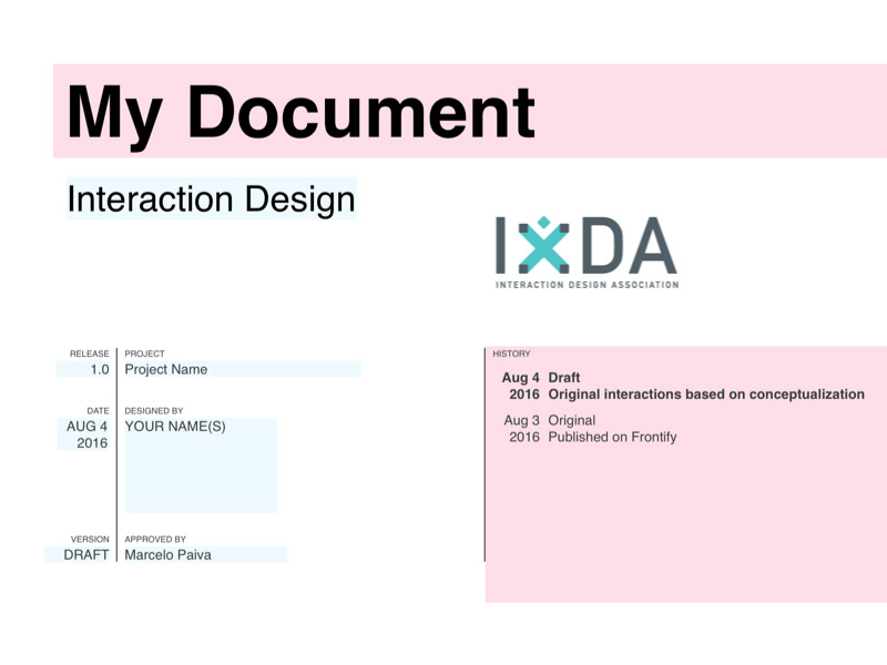 IxDA Interaction Design Template Sketch freebie - Download free ...