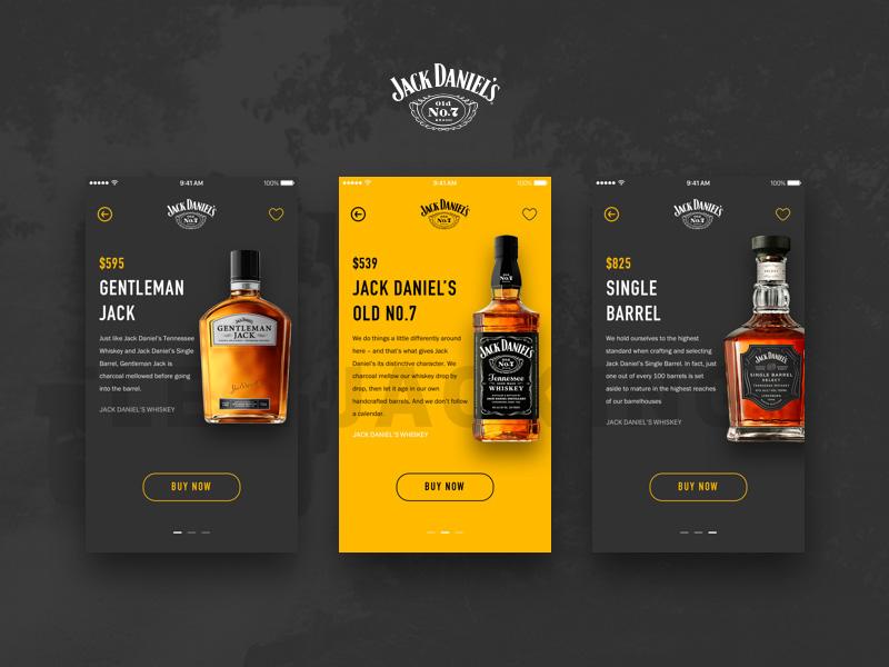 jack daniel s ecommerce app sketch freebie download free resource