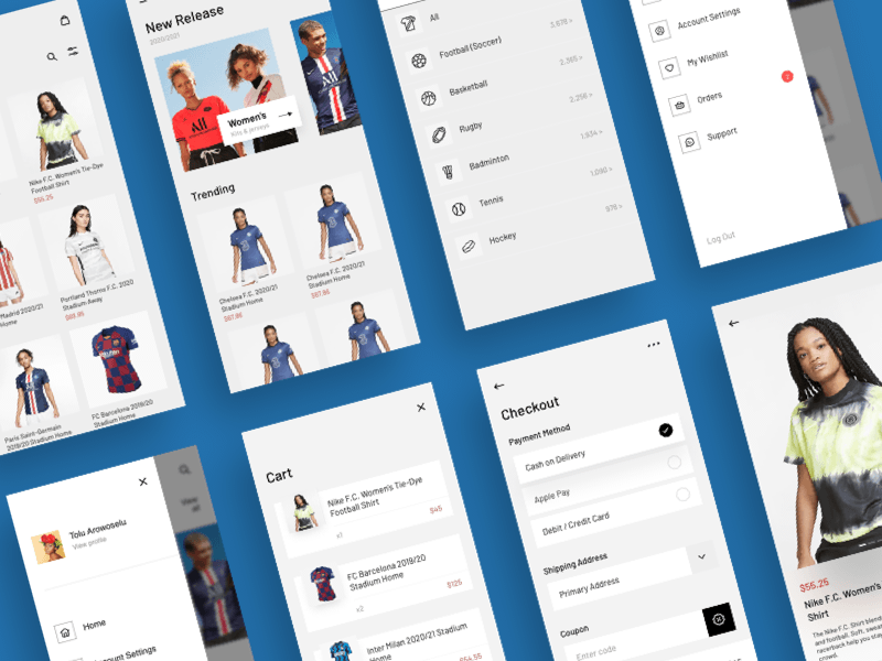 Jersey Shop UI Kit