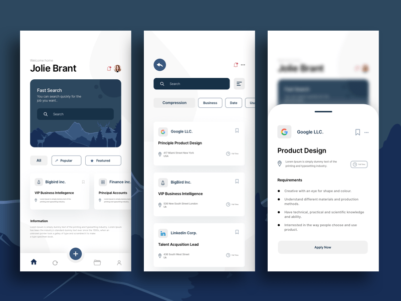 Job Search Concept App