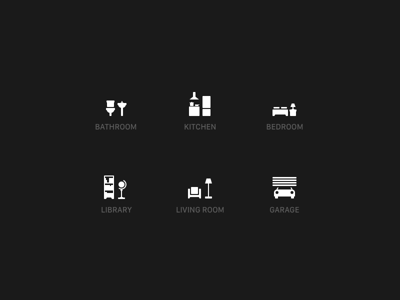 Home Icons Bathroom Kitchen Bedroom Library Living