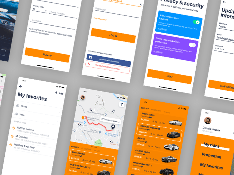 JUBER - Car Rental App