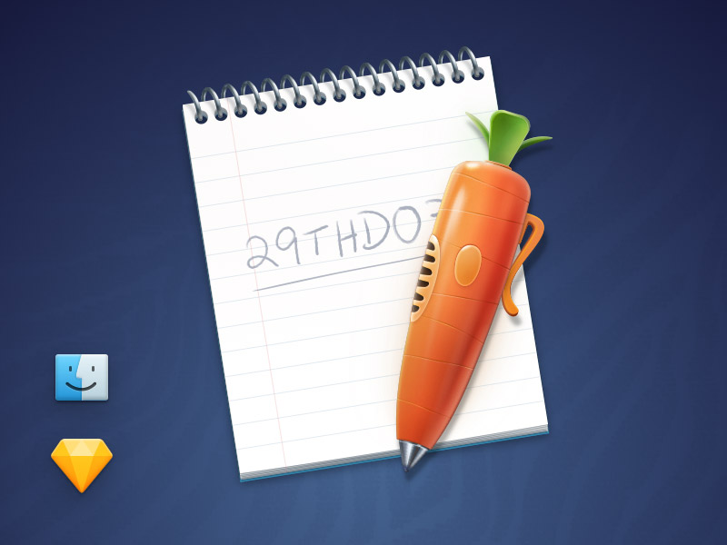 Judy's Carrot Pen and Notepad Sketch freebie - Download free