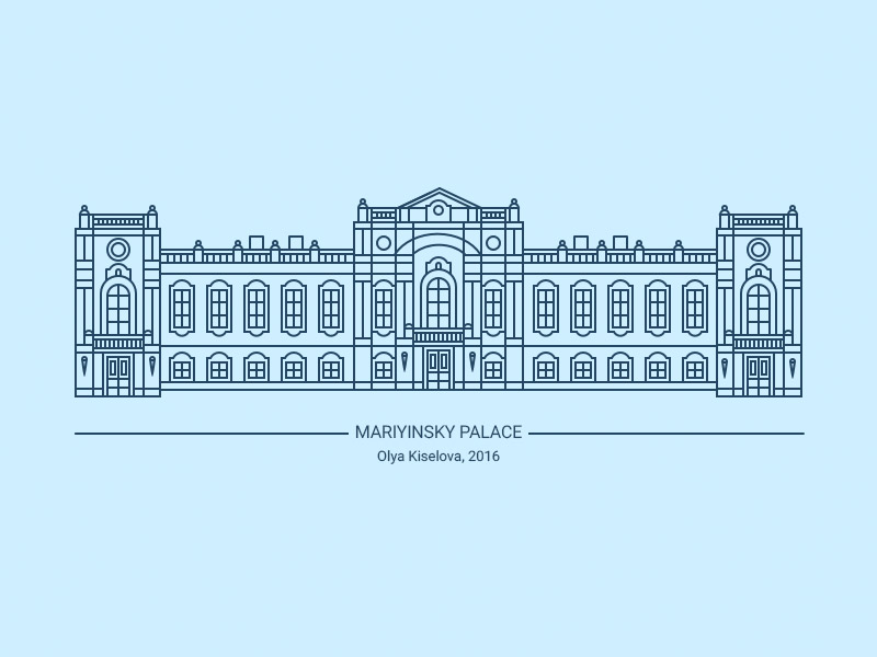 Mariyinsky Palace Illustration