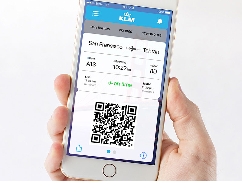 how to use smartphone for boarding pass
