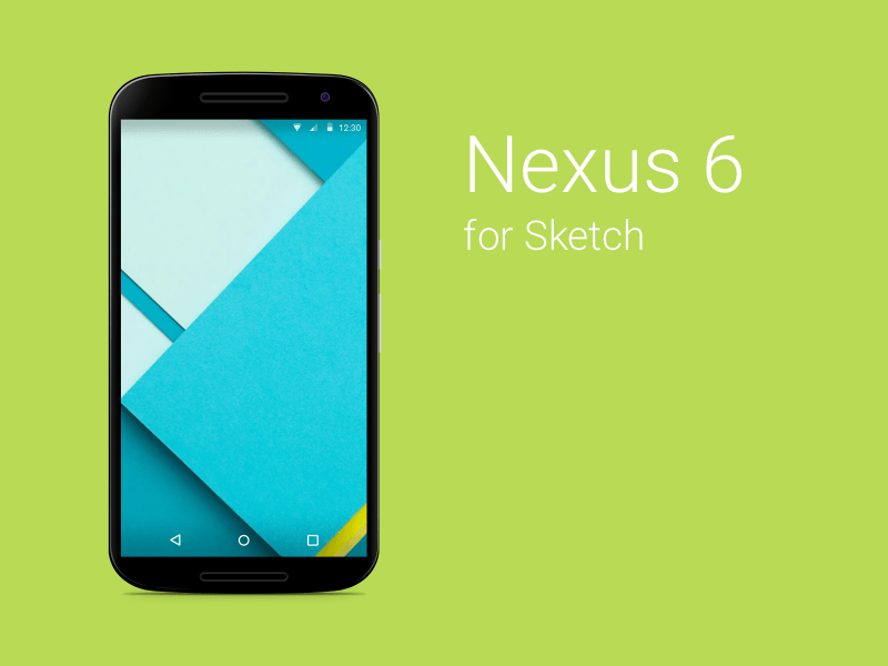 Nexus 6 Skecth Template Sketch freebie - Download free resource for