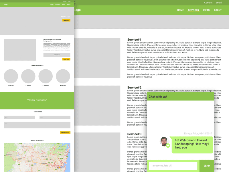 Landscaper Simple Web Template