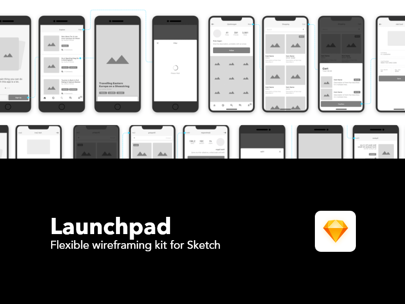 Launchpad Wireframing Kit