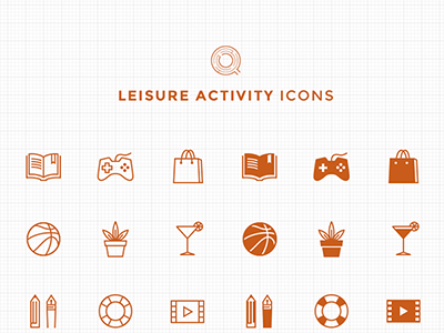 66 Free Line and Filled Leisure Activity Icons