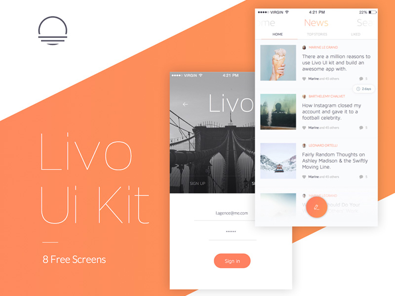 Livo Sample UI Kit