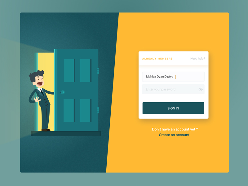 Login Page Illustration