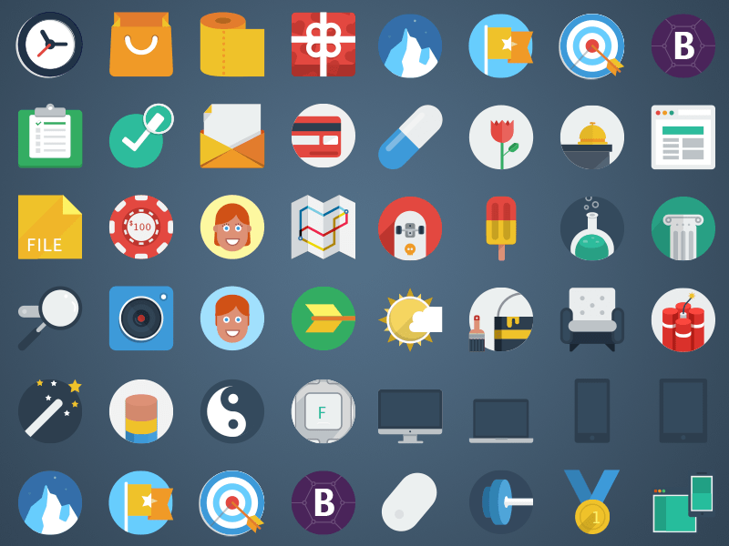 Flat Colorful Icons