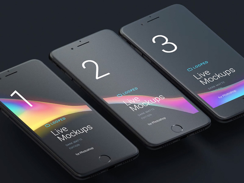 Black Matte Devices Mockups