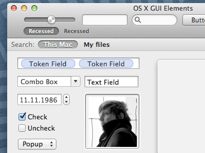 Mac OS X GUI Elements