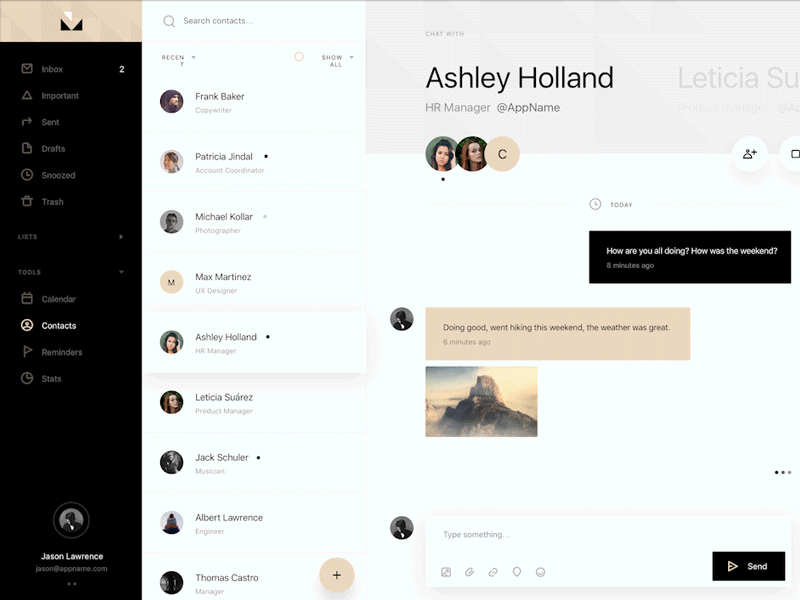 Mail App UI Kit