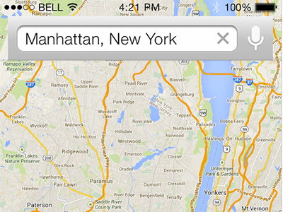 iOS7 Map Search UI