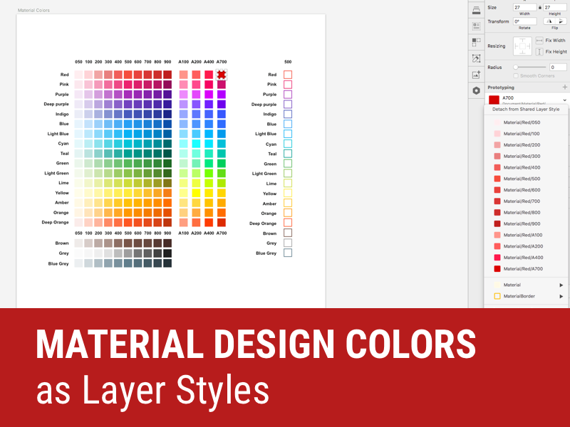 Material Design Colors As Layer Styles