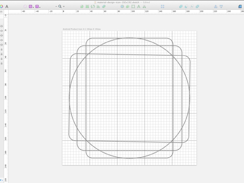 material design icon grid template sketch freebie download free
