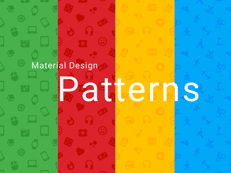 Material Design Icon Patterns