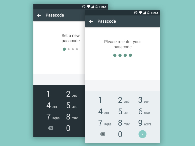 Material Design Number Pad