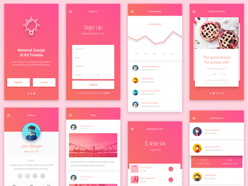 Material design ui android template best free home Free home design app