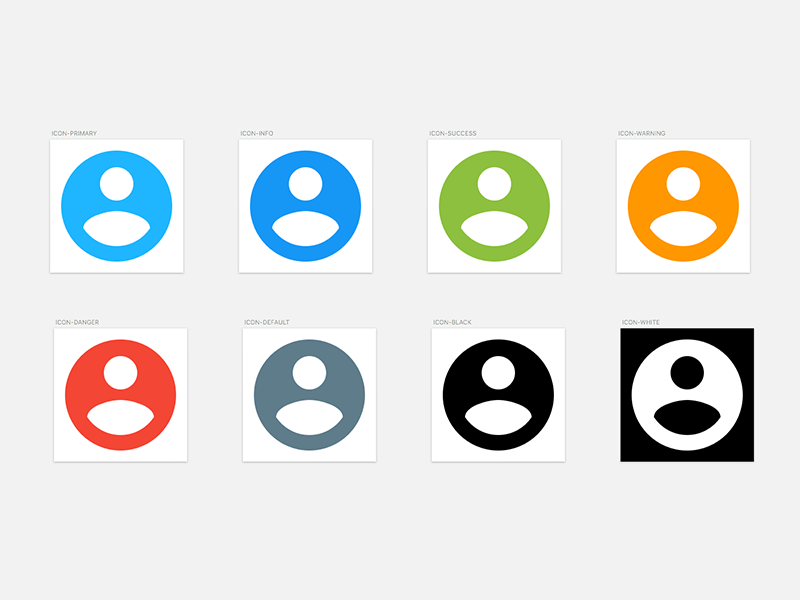 Google Material Icons with Dynamic Colors Sketch freebie