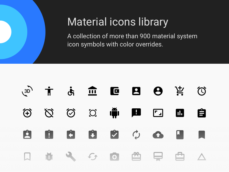 Material Icons Sketch Library Sketch freebie - Download free