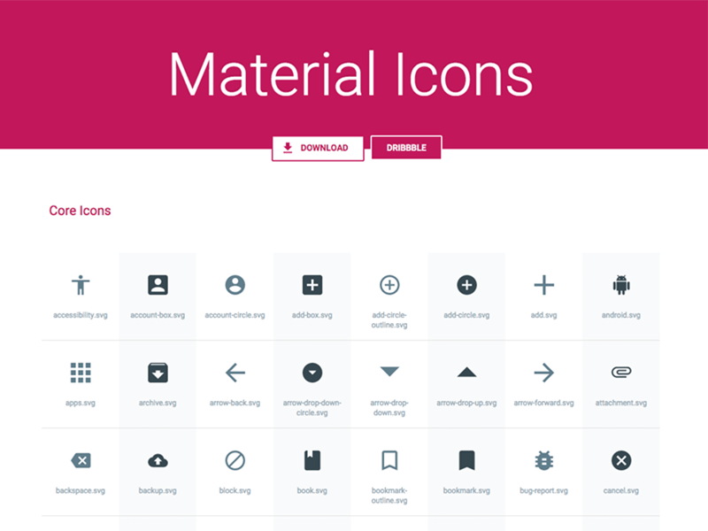 Material Icons Pack Sketch freebie - Download free resource