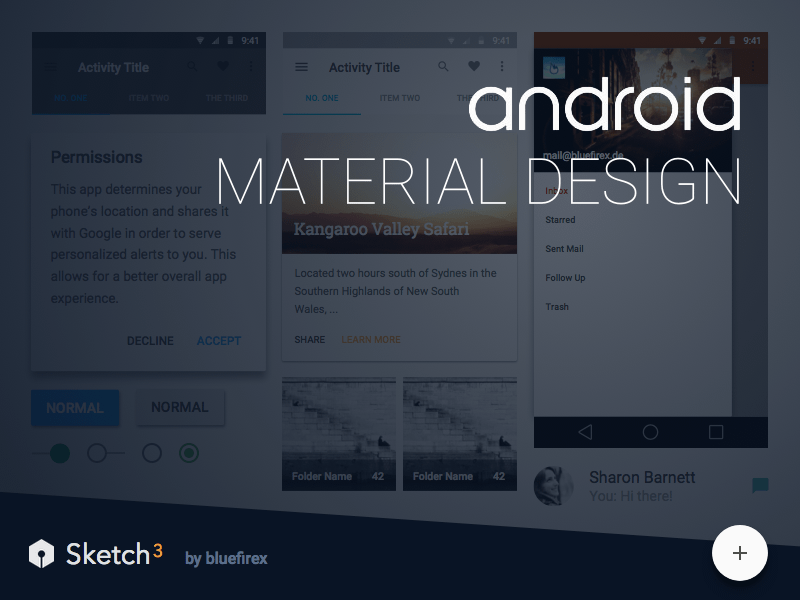 Material Design Android Sketch freebie - Download free