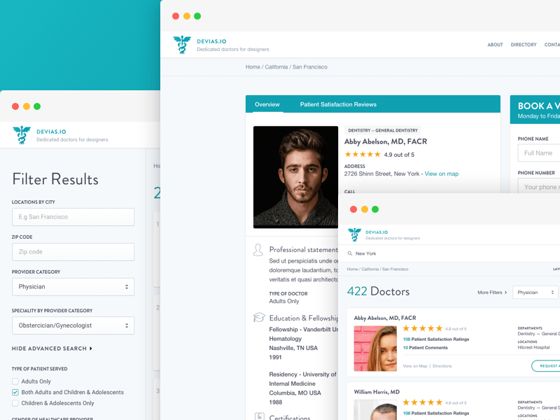 Medical Directory UI Kit