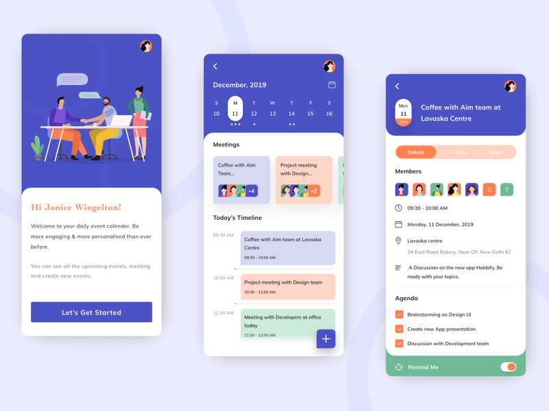 Meeting and Events App Concept