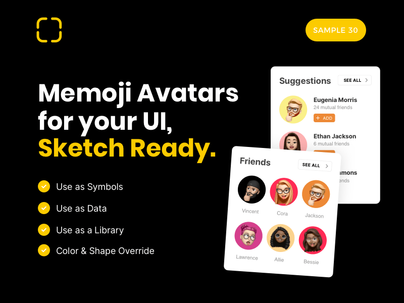 Memoji UI Sample Set