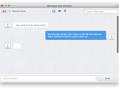 Messages App Interface