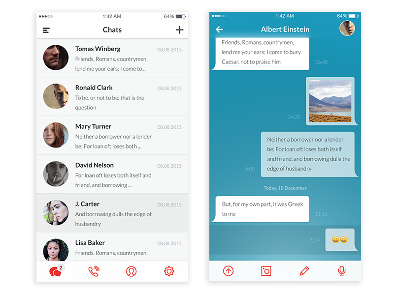 Messaging App UI