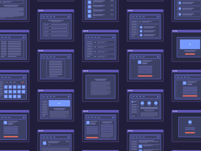 Web App Micro Wireframes