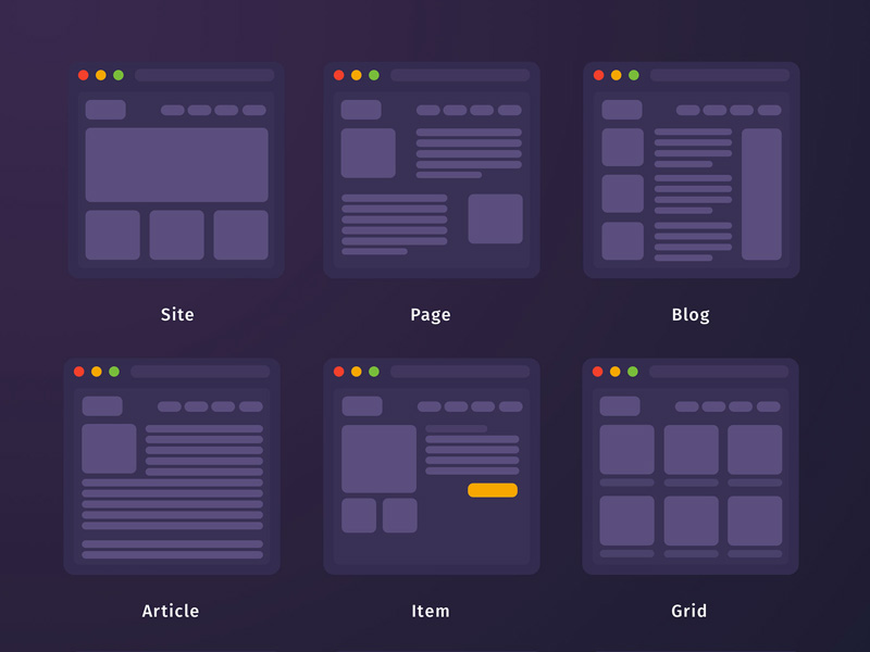 Mini Wireframes