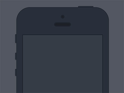 Minimal iPhone Dark Flat
