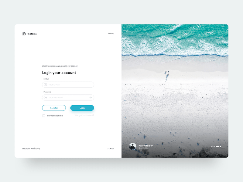 Clean Web Login Form