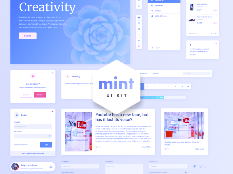 mint web ui kit sketch freebie download free resource for sketch