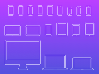 Mobile Devices Icons V4