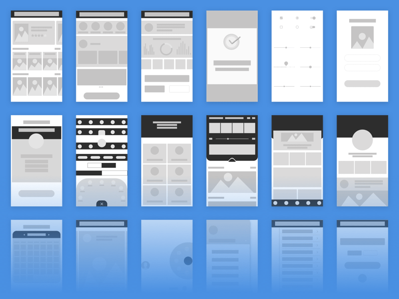 Wireframe Kit for iOS and Android