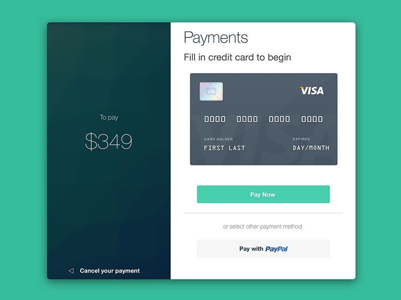 Payment UI Sketch freebie - Download free resource for