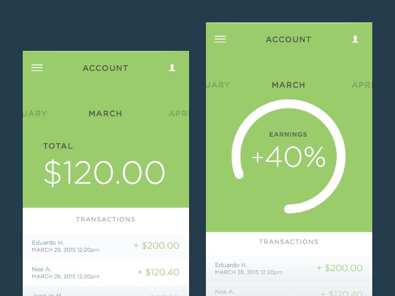 Money App Concept Sketch freebie - Download free resource